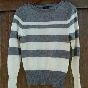 J Crew Buttoned Boatneck Sweater Size XL